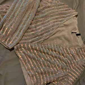 TopShop Hand-Sewn Sequin/Bead Jacket and Skirt